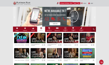 Platinum Play Casino Claim Bonus