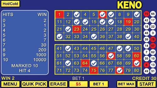 Keno Numbers