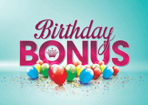 casino birthday bonuses